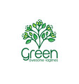 logo of green leaf ecology nature element i vector image