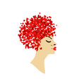 Lovely hair vector image vector image