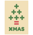 math christmas card vector image vector image