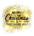 merry christmas holidays greeting card vector image