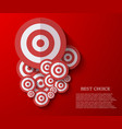 modern flat darts background Eps 10 vector image