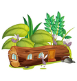 Mosquitoes and a wooden house vector image