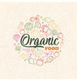 organic food concept colorful vegetable icons vector image vector image