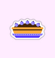 pie icon delicious pie vector image vector image