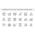 presentation training icon vector image