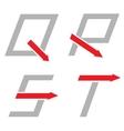 Q R S T letters vector image