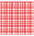 red plaid checkered gingham pattern vector image vector image