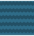 Sea blue wave background wavy seamless pattern vector image vector image