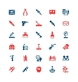 Set color icons of welding and soldering vector image vector image