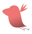 silhouette nice bird fauna animal vector image vector image