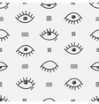Simple abstract seamless pattern with eyes vector image vector image