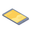 smartphone grey with yellow touchscreen chatting vector image