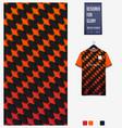 soccer jersey pattern design geometric pattern vector image