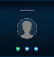 social media user profile icon on video call vector image