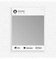 social network photo frame for friends internet vector image