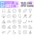 sport thin line icon set fitness signs collection vector image vector image