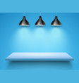 spotlight shelf on wall background design vector image vector image