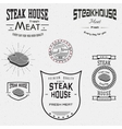 Steak house badges logos and labels for any use vector image vector image