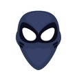superhero superman mask face design vector image vector image