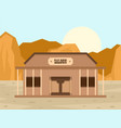 texas saloon concept background flat style vector image