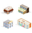 trade buildings isometric 3d vector image vector image