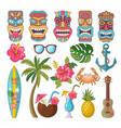 tribal symbols of hawaiian and african culture vector image vector image