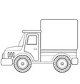 truck sketch coloring book cartoon isolated vector image vector image