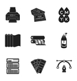 Typography set icons in black style Big vector image vector image