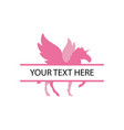 unicorn with split text design template isolated vector image vector image