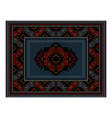 vintage carpet of blue in the middle vector image vector image