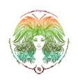 zodiac sign portrait a woman virgo vector image vector image