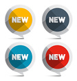 New Circle Labels Isolated on White Background vector image