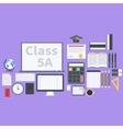 Flat school pack vector image