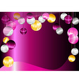 Pink and purple Christmas ornament background vector image