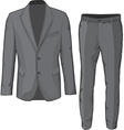 Male clothing suit coat and pants vector image