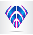 Abstract logo 020 vector image