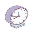 alarm clock minimalist right side vector image