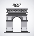 arch of triumph vector image vector image