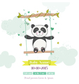 baby shower or arrival card - panda