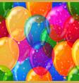 balloon background seamless vector image vector image