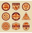 Barbecue Vintage Style Emblems vector image vector image
