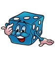 Blue Dice vector image vector image