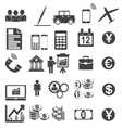 Business Icons Simplus serie vector image vector image