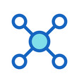 business networking filled line icon blue color vector image vector image