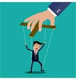 Cartoon Businessman marionette vector image