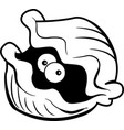 cartoon clam with large eyes vector image vector image