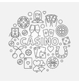 Casino line vector image vector image