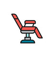 chair for tattoo studio equipment flat color line vector image