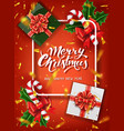 christmas design template calligraphic vector image vector image