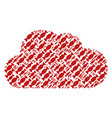 cloud composition of candy icons vector image